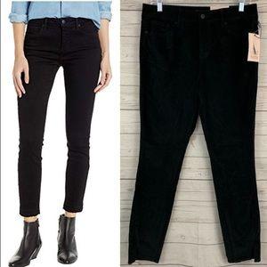 NYDJ ami skinny black jeans twist hem stretch NEW